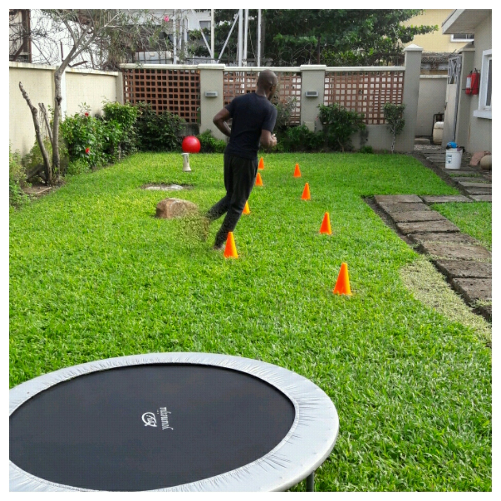 functional training exercises with cones